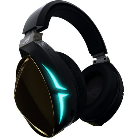 ASUS ROG Strix Fusion Wireless Gaming Headset for PC and Playstation 4 (PS4) with Dual Channel 2.4GHz Wireless Mini Dongle, Digital Microphone with Auto Mute, and Touch
