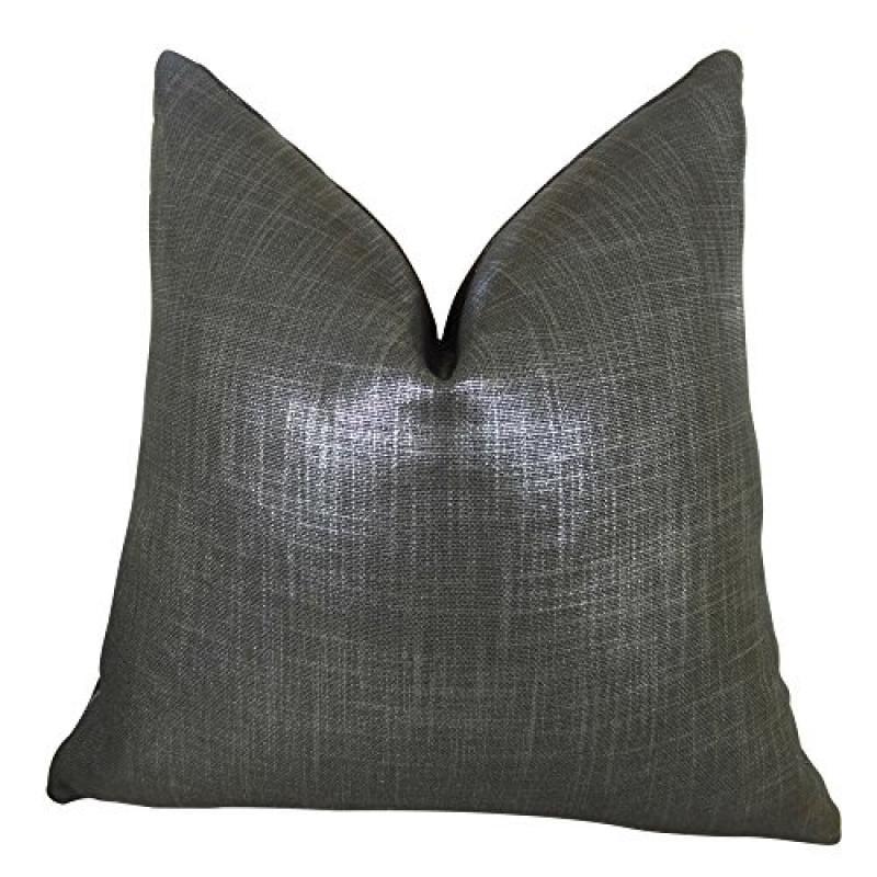 "Plutus Glazed Linen Indigo Handmade Double Sided Throw Pillow, (Double sided 22"" x 22"") - image 1 de 1"
