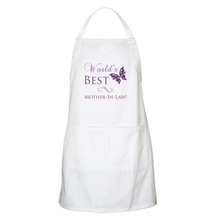 CafePress - World's Best Mother In Law Apron - Kitchen Apron with Pockets, Grilling Apron, Baking -
