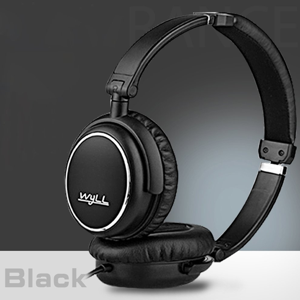 Stereo HIFI Wired Headphone Headset Over-Ear Game Headset 3.5mm Noise Canceling Gaming Headphone With Mic,black