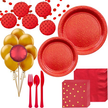Party City Prismatic Deluxe Party Kit for 16 Guests, 175 Pieces, Includes Tableware, Balloons, and Decorations - Party City Rockville