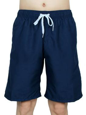 Chetstyle Authorized Adult Men Summer Swimming Shorts Swim Trunks Navy Blue W 32