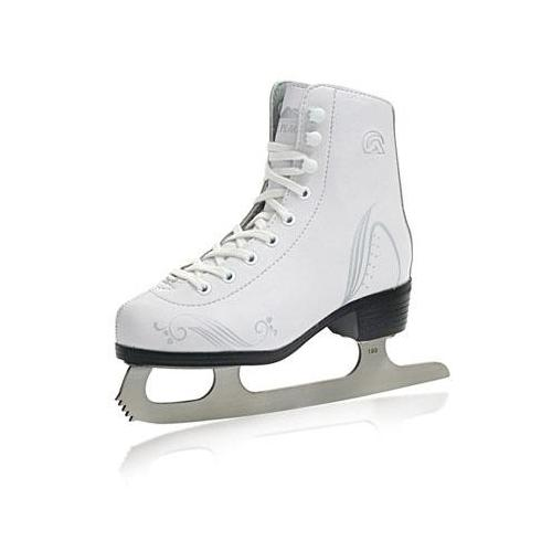 Lake Placid Girl's LP200G Figure Ice Skate (White - Y12)