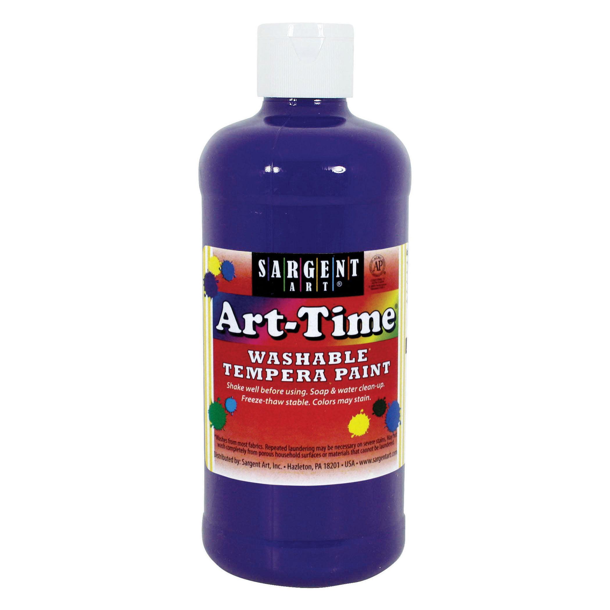 Sargent Art® Art-Time Washable Paint, 16 oz., Violet, 12/Pack
