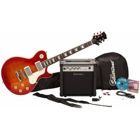silvertone guitars ssl3 electric guitar package. Black Bedroom Furniture Sets. Home Design Ideas