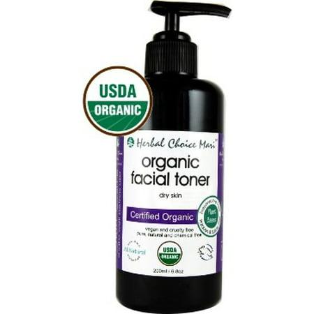 Herbal Choice Mari Organic Facial Toner, Dry Skin, 6.8 Oz