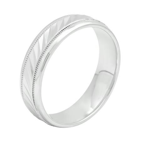 Men's 6MM Wave Pattern Sterling Silver Ring – Mens Wedding Band