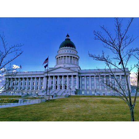 Peel-n-Stick Poster of Dome Salt Lake City Usa Capitol Capital Building Poster 24x16 Adhesive Sticker Poster Print](Costumes Salt Lake City)