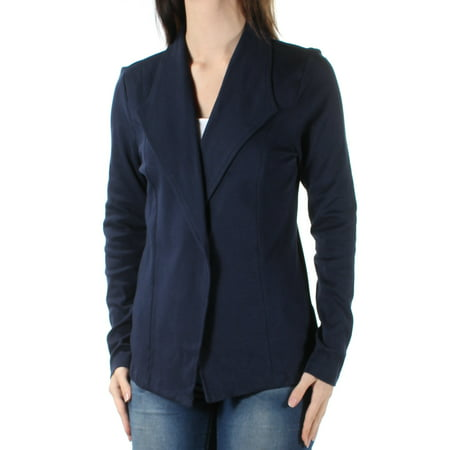STYLE & CO Womens Navy Long Sleeve Open Cardigan Wear To Work Top  Size: S