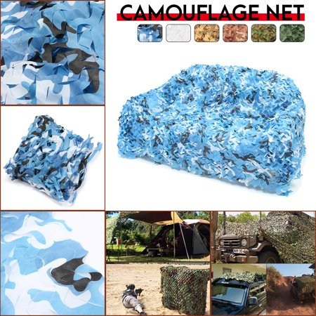 Leafy Camo (Camouflage Netting , 16ft x 8ft Jungle Camouflage Net Leaves Hide Netting Camo Net Woodland Camouflage Military Netting For Camping Military)
