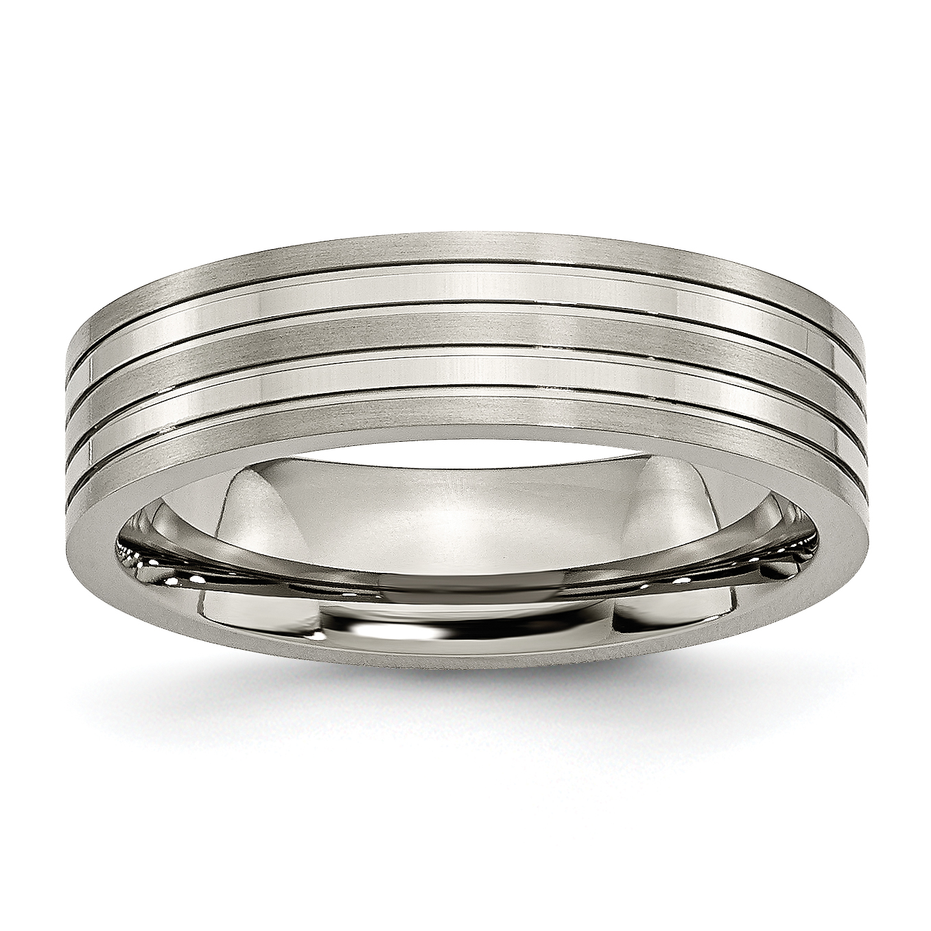 Titanium Grooved 6mm Brushed Wedding Ring Band Size 12.00 Fashion Jewelry Gifts For Women For Her - image 6 of 6