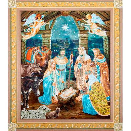 - Needle Art World Nativity Scene Diamond Dotz