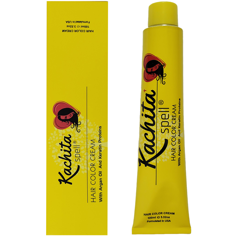 Permanent Hair Dye Red Fantasy Shade Kachita Spell 3 52 Oz 100 Ml Professional Hair Color Cream With Keratin And Argan Oil 100 Gray Coverage Walmart Com