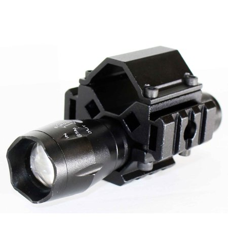 Tactical LED Gun Flashlight 1200 Lumens for Shotgun ALUMINUM BLACK (Gun Light)