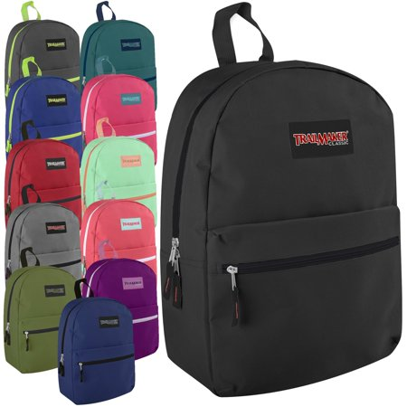 Lot of 24 Wholesale (TrailMaker) 17 Inch Backpacks - 12 Different - Character Backpacks Wholesale