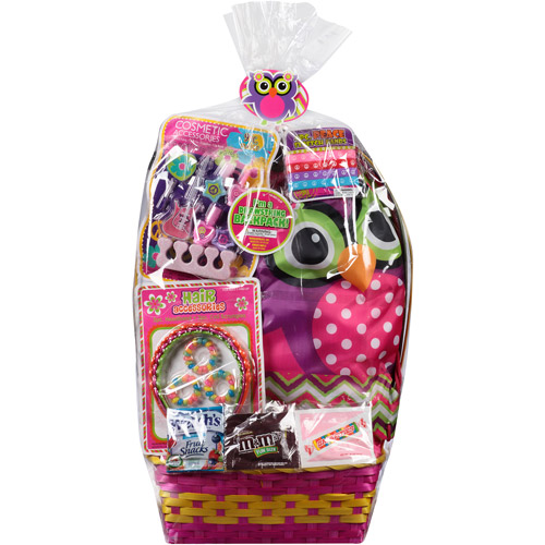 Wondertreats Owl Easter Basket With Purse Beauty Accessories And Assorted Can S