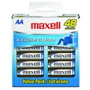 Maxell AA Alkaline Battery 48 Pack