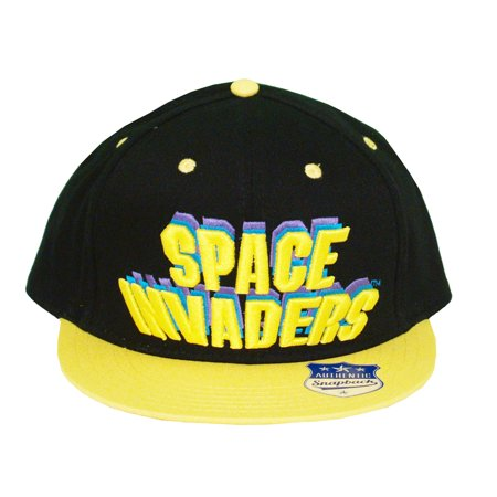 Space Invaders Authentic Snapback Adult Adjustable Flat Bill Hat Cap