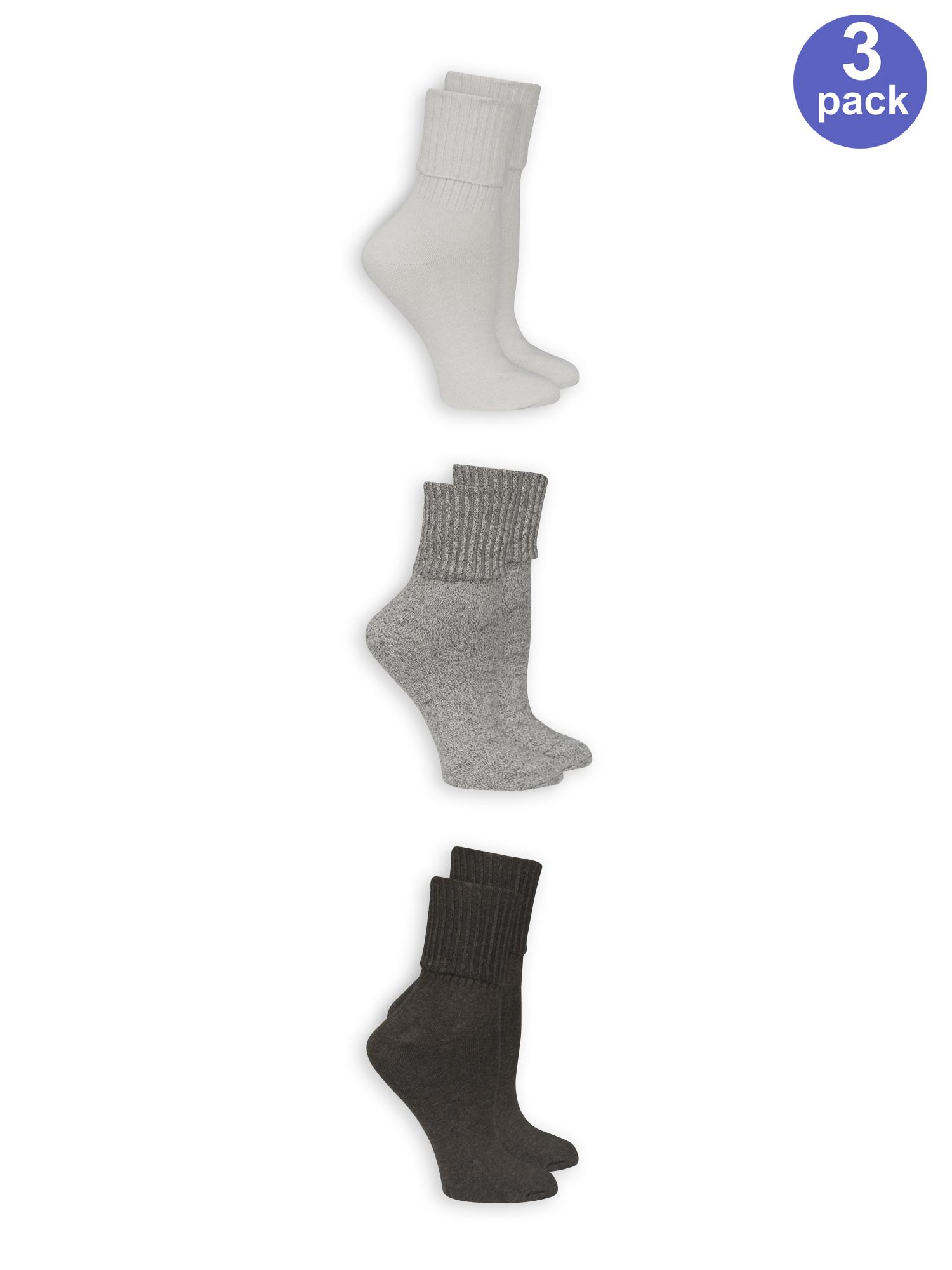 Women's marl turn cuff socks 3 pack