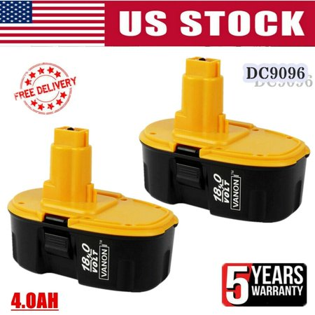 2 Pack Replace For Dewalt 18V Ni-Mh XRP Battery DC9098 DC9099 DW9095 DC9096-2