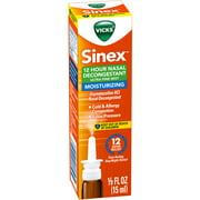 Vicks Sinex 12 Hour Decongestant Moisturizing Ultra Fine Mist, .5 fl oz