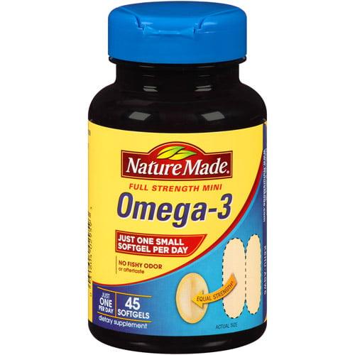 Nature Made Omega-3 Full Strength Mini Softgels, 45 count