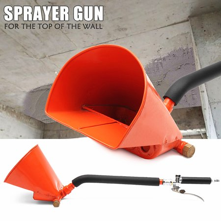 New Cement Plaster (Wall Plastering Sprayer Gun Air Cement Mortar Stucco repairing Hopper Caulking Hand Tool )