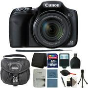 Canon PowerShot SX530 HS 16MP Digital Camera Black + 16GB All You Need Bundle