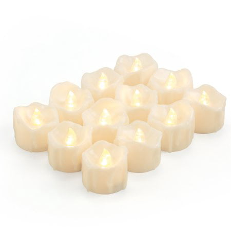 LED Tea Lights Candles Kohree Flameless Candles Battery Operated LED Candle Flickering Tealight Candle Warm White 12Pack (Flameless Colored Candles)