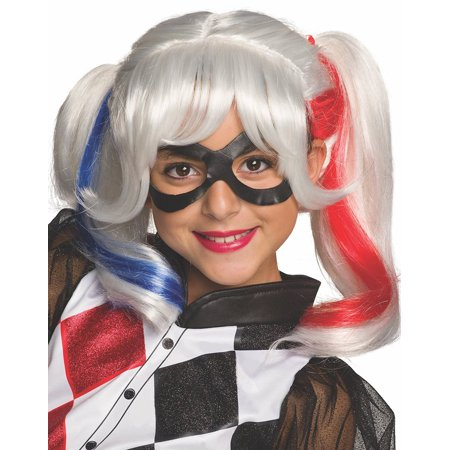Halloween Wigs Dc (DC Superhero Girls: Harley Quinn Child Wig, Halloween)