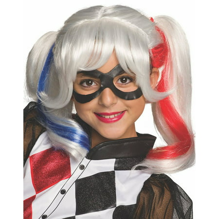 DC Superhero Girls: Harley Quinn Child Wig, Halloween Accessory - Childrens Halloween Wigs