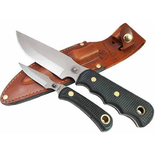 Knives of Alaska Bush Camp/Cub Bear Combo Knife Set, Black SureGrip