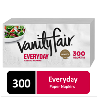 Vanity Fair Everyday Paper Napkins, 300 Total Napkins