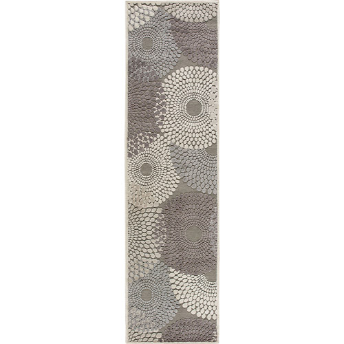 """Nourison Graphic Illusions Painted Circles Runner Rug 2'3"""" x 8'"""