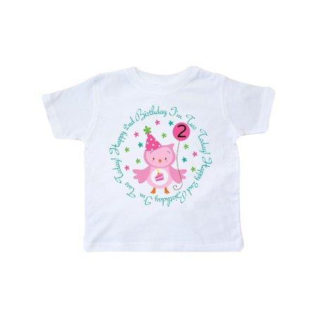 2nd Birthday Owl I'm Two Years Old Girls Toddler T-Shirt (11 Year Old Girls Crop Tops)