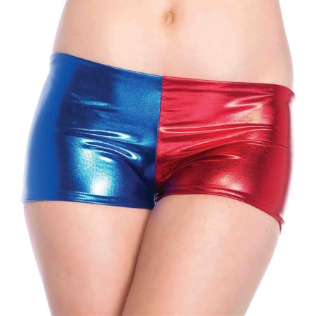 Misfit Booty Shorts Harley Quinn Suicide Squad Womens Blue Red Mid-Rise - Halloween Misfits Mix