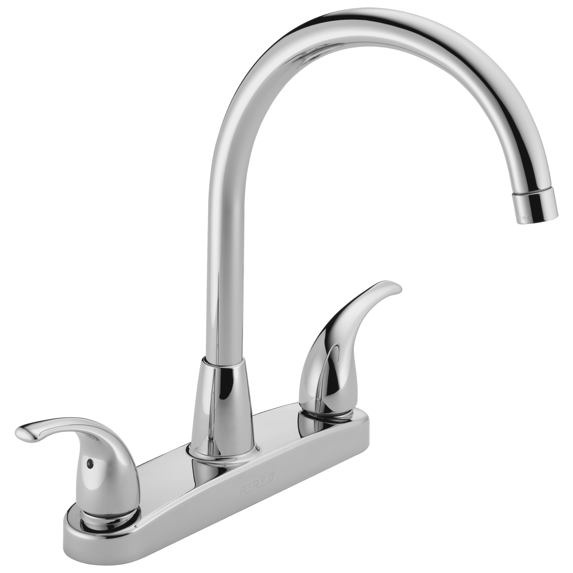 Peerless Tunbridge Two Handle Deck Mount Kitchen Faucet In Chrome P299568lf Walmart Com Walmart Com