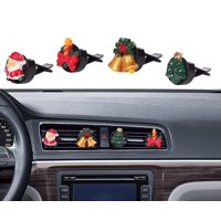 Car Christmas Decorations, Mini-Factory Car Christmas Decoration interior Decor Air Vent Accessories for Christmas / Winter