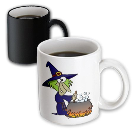 Brew Mug (3dRose Witchs Brew Halloween Cartoon - Magic Transforming Mug,)