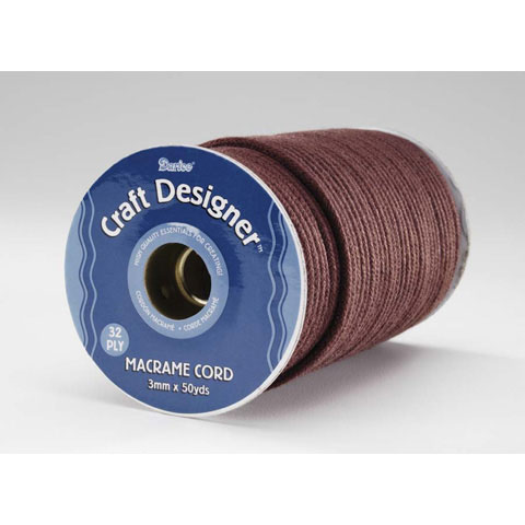 Macrame Cord Polyester Brown 3Mm 32Ply 50Yd