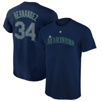 Felix Hernandez Seattle Mariners Majestic Youth Player Name & Number T-Shirt - Navy