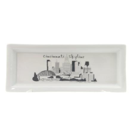 Tabletop CINCINNATI SMALL RECTANGLE TRAY Ceramic Skyline Cicin082
