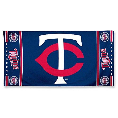 "WinCraft MLB Minnesota Twins 30"" X 60"" Logo Beach Towel"