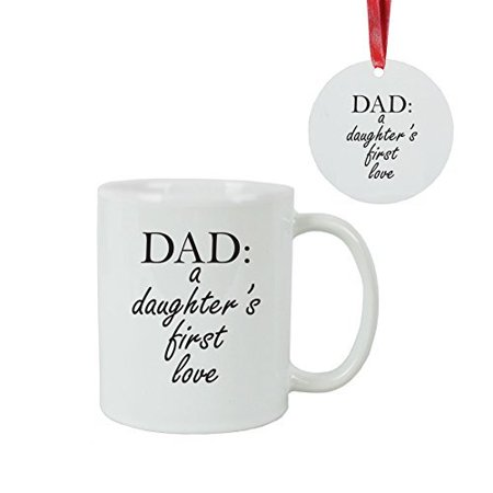 Dad: A Daughter\'s First Love Coffee Mug with Christmas Ornament + ...