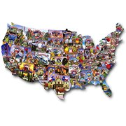 USA Shaped Puzzles Road Trip America Walmartcom - Us map license plate puzzle