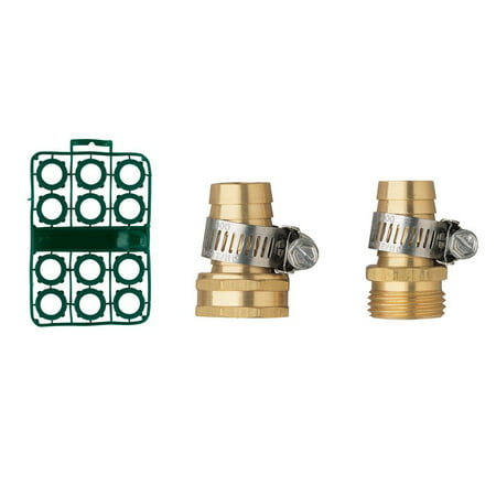 Orbit 3/4 Inch Brass Hose Repair bundle with Male and Female Menders