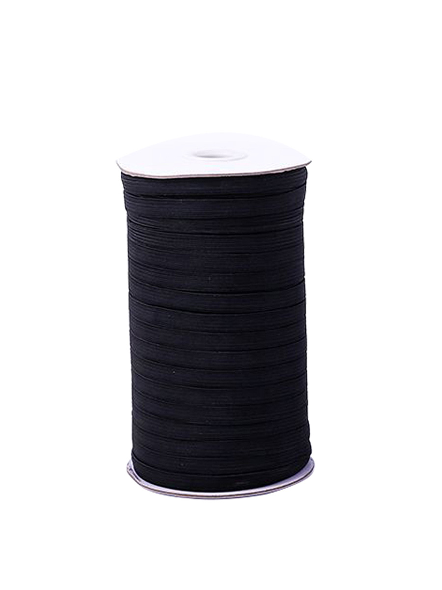 Selfieee Elastic Bands For Face Mask Stretch Knit Elastic Spool For Mask Making Hanging Sewing 00091 Black 144 Yards 5mm Walmart Com Walmart Com