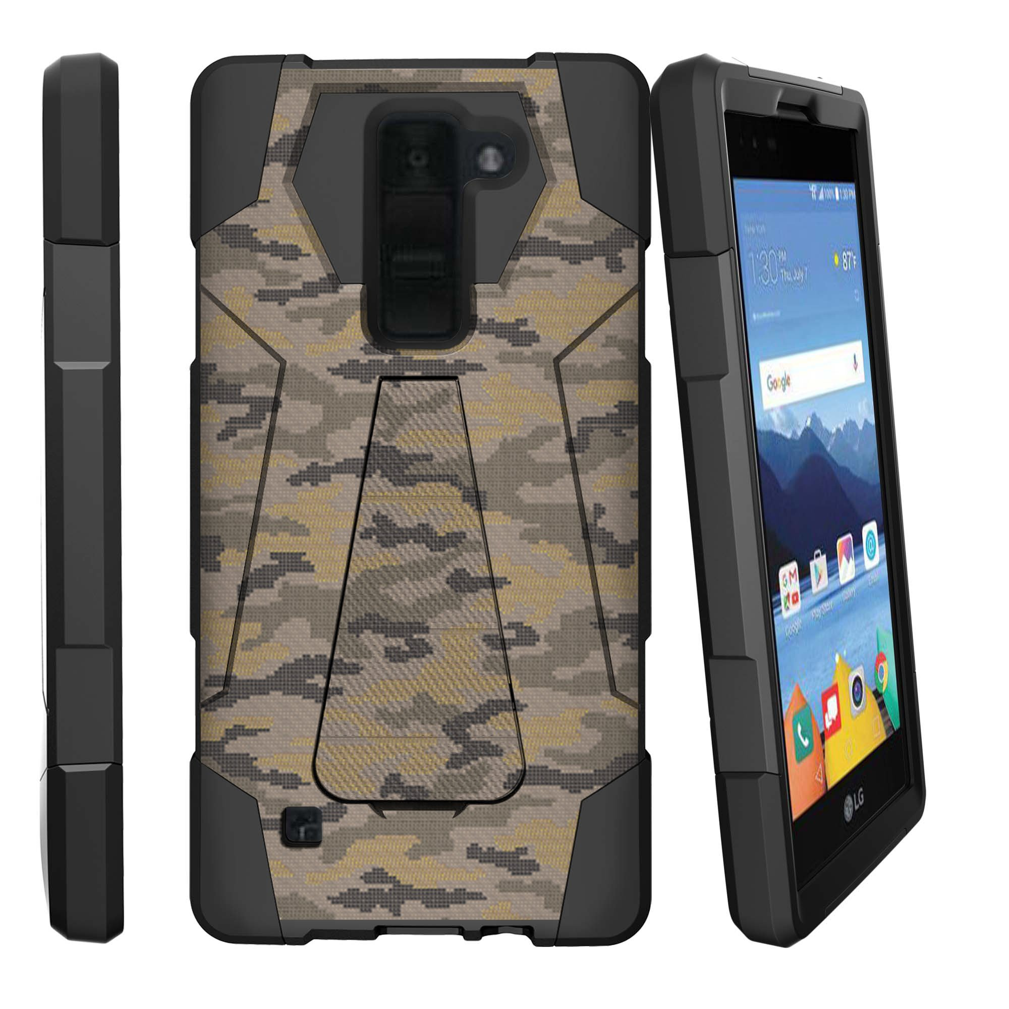 Case for LG K8 | Case for LG Treasure [ Shock Fusion ] Hybrid Layers and Kickstand Case Camo Collection