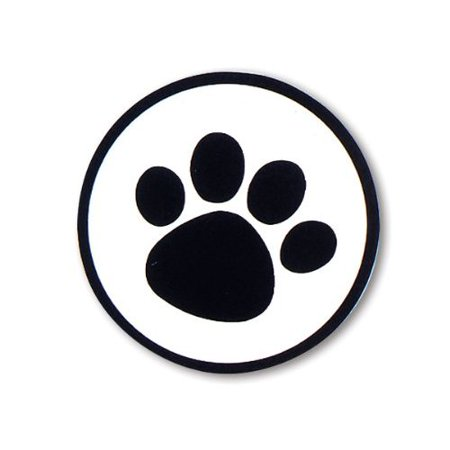 100 Dog Animal Paw Print Sticker 1-1/2
