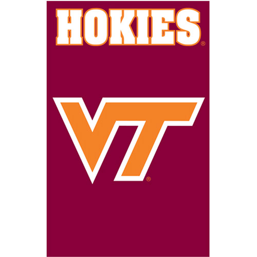 NCAA Applique Flag, Virginia Tech Hokies